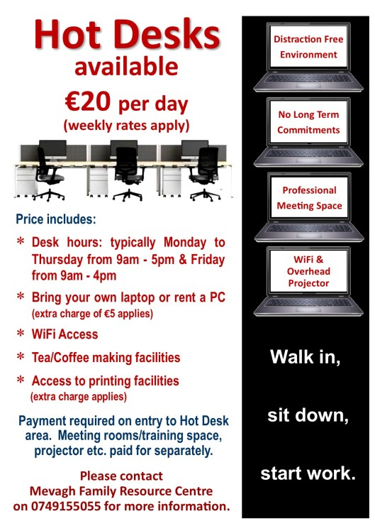 Rent a Hot Desk at Mevagh Family Resource Centre